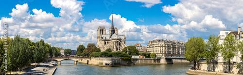 Fotografie, Tablou Seine and Notre Dame de Paris