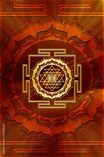Shri Yantra, Lotus Flower, Buddhism Wallpaper Mural