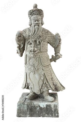 Foto op Plexiglas Xian Stone Chinese warrior in the Temple