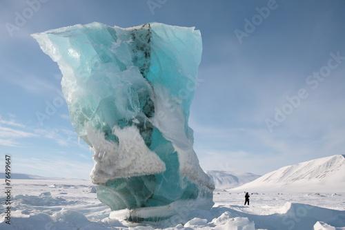 Fond de hotte en verre imprimé Pôle Gletscher Spitzbergen