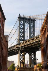 FototapetaManhattan Bridge at Brooklyn street New York US