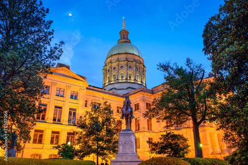Plakat Georgia State Capitol w Atlancie, Georgia