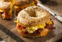 Hearty Breakfast Sandwich On A...