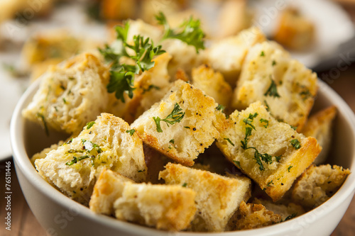 Fotografía  Fresh Homemade French Croutons