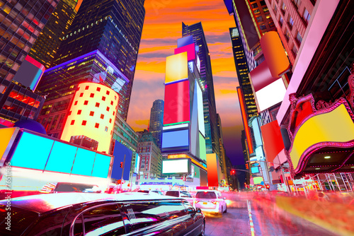 Times Square Manhattan New York deleted ads - 76511485