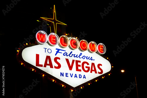 Fotobehang Las Vegas Welcome to las Vegas