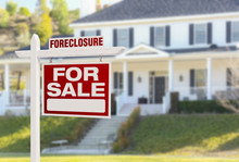 Foreclosure Home For Sale Sign...