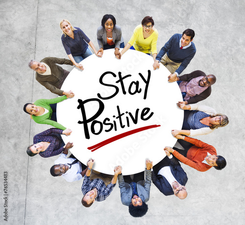 Photo  Aerial View People Community Stay Positive Optimistic Concept