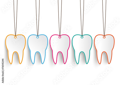 5 Toothstickers White Background