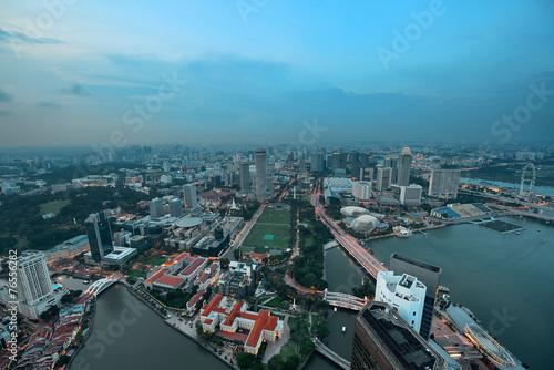 Photo  Singapore sunset
