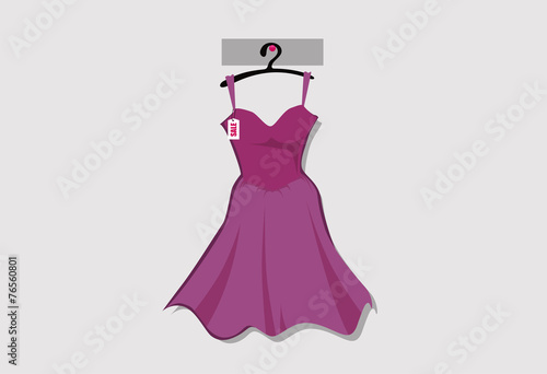 Plagát  Woman dress fashion vector