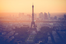 Sunset At Eiffel Tower In Pari...