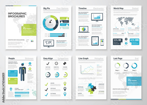 Fotografie, Tablou  Infographic brochures for business data visualization