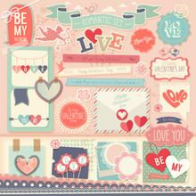 Valentine`s Day Scrapbook Set ...