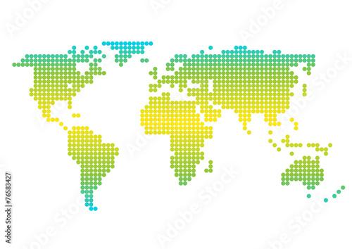 Poster Carte du monde The Earth