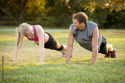 Fotografie, Obraz  Couple exercising