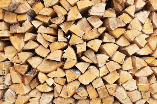 Aluminium Prints Firewood texture firewood stacked for storage, background
