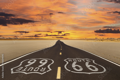 Foto op Canvas Route 66 Route 66 Romanticised