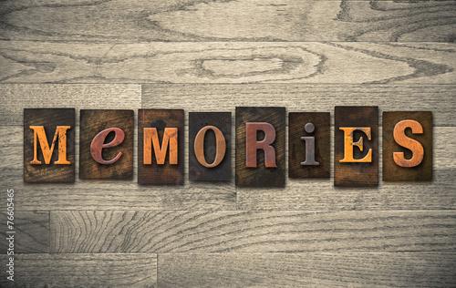 Valokuvatapetti Memories Wooden Letterpress Concept
