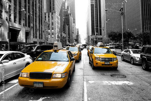 Spoed Foto op Canvas New York TAXI New York Taxi
