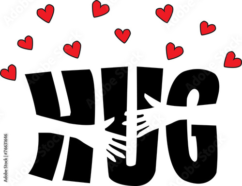 Tablou Canvas a big hug love or friendship