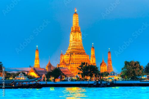 In de dag Bangkok War Arun, Bangkok, Thailandia.