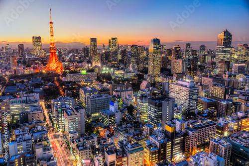 In de dag Tokio Tokyo, Japan.