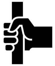 Hand Holding Straphanger Icon