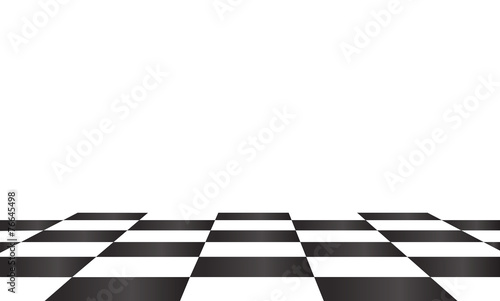 Canvas Print chessboard. background