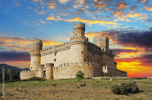 Canvas Prints Castle Old Castle in Span - Manzanares