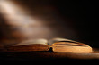 Leinwandbild Motiv libro antico aperto