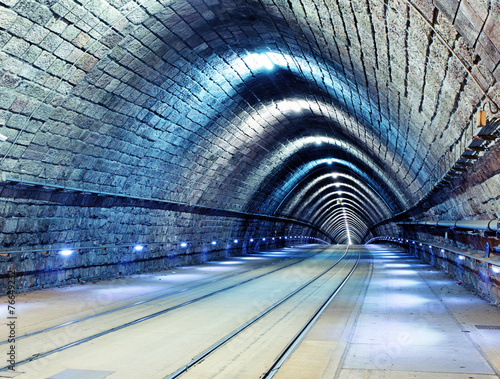 Wall Murals Tunnel Railroad tunnel
