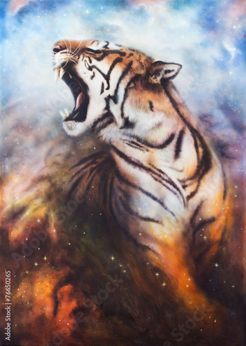piekny-obraz-przedstawiajacy-ryczacego-tygrysa-akwarela