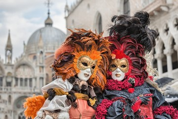 Panel SzklanyCarneval mask in Venice - Venetian Costume