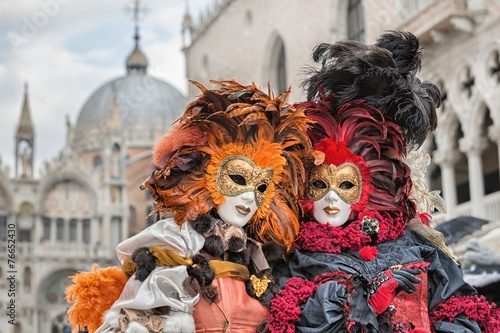 Photo Stands Venice Carneval mask in Venice - Venetian Costume