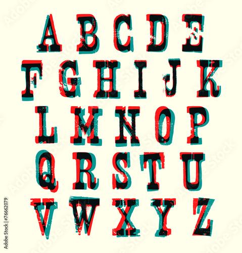 Plakat Alfabet Do Wydrukowania Na ścianę Loftu 76662079