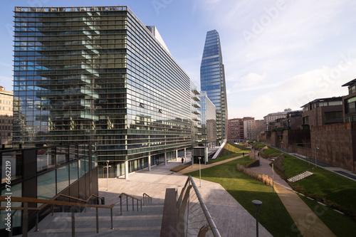 Tuinposter Milan Grattacielo e palazzi a Milano zona nuova
