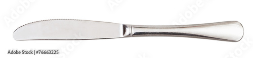 Fotografía steel serving knife - cutlery isolated on white