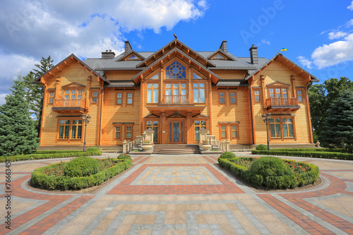 Fotografia, Obraz  Mezhyhirya Residence. Big  wooden house. Luxury house