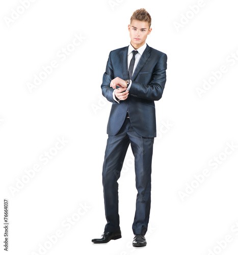 Fotografie, Obraz  Full length portrait on young handsome man. Elegant man