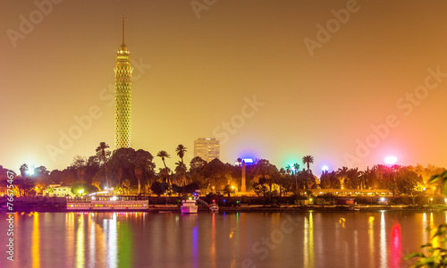 Tuinposter Egypte View of the Cairo tower in the evening - Egypt