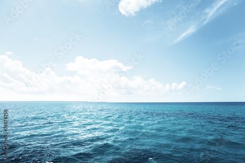 Poster Mer / Ocean caribbean sea and perfect sky