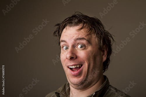 Fotografie, Obraz  this is a dorky creepy smile