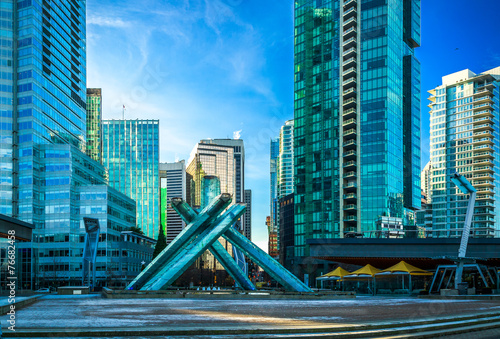 Fototapeta premium Olympic Cauldron at Jack Poole Plaza w Vancouver.