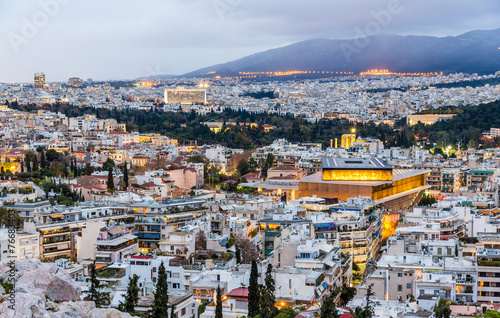 Foto op Plexiglas Athene View of Athens in the evening - Greece