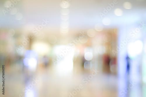 Fényképezés  Blur store with bokeh background