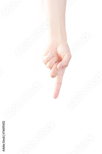 Hand Gesture Pointing Down Index Finger Buy This Stock Photo And