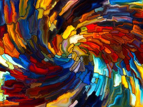 Fotobehang Paradijsvogel bloem Toward Digital Stained Glass
