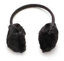 Black Fuzzy Winter Ear-Muffs