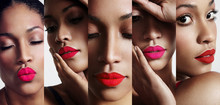 All About Lips Collage. Cutted...